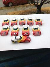 VINTAGE TEN PIECE AURORA AFX SLOT CAR BODY GROUP / 1981 / RED WHITE CORVETTE!!!