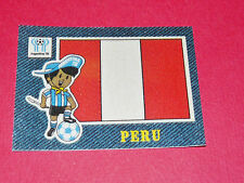 PANINI FOOTBALL 1978 ECUSSON JEAN DENIM PERU PEROU ARGENTINA 78 WC WM MUNDIAL