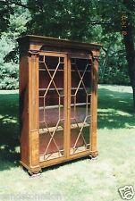 Baltimore Antique 1830's ' John Needles ' Mahogany Baltimore Wardrobe Bookcase