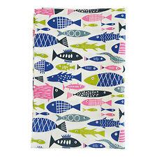 Klippan Scandinavian Swedish Modern Vtg/Retro 50s 60s Fabric TEA TOWEL-Fish