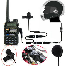 2Pin Motorcycle Helmet Headset Earphone Earpiece For Kenwood Baofeng 2 Way Radio