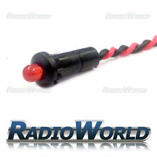 MEGA Bright Rosso Lampeggiante LED rotonda Indicatore di avvertimento allarme AUTO CRUSCOTTO LUCE 12 V