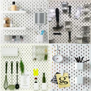 Ikea SKADIS Pegboard & Many Accessories For Kitchen Office Work Organizer Board