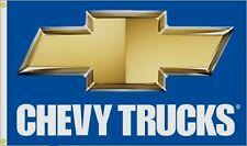 Chevy Truck Premium Car Flag 3' x 5' Blue & Gold Bowtie Auto Banner (USA Seller)