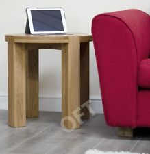 Michigan solid oak furniture round lamp side end table