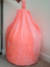 Adult beanbag filled blush pink faux fur large 6 Cubic feet Size luxurious New