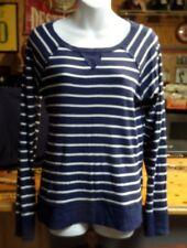 Old Navy Woman's Striped Top Size L Blue/White (SU7)