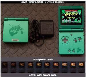 Nintendo Game Boy Advance GBA SP IPS MOD System 10 Level Brightness - Rayquaza
