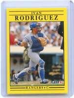 Ivan Rodriguez Rookie Card 1991 Fleer Update #U62 Texas Rangers