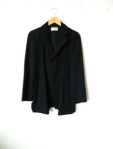 COMME des GARCONS 'robe de chambre' adorable veste à longues fentes festonnées