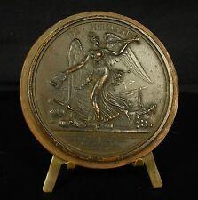 """Médaille DE GERMANIS.""""Fame"""" """"La Renommée"""" sonnant de la trompette 1805 Medal"""