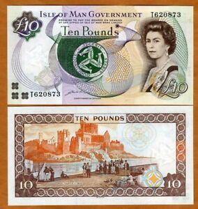 Isle of Man, 10 pounds ND (2007), T-Prefix, P-47b, DLR, Sig. 8 QEII UNC