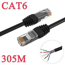 305M CAT6 Solid Copper External Network Ethernet Cable LAN UTP Outdoor For CCTV