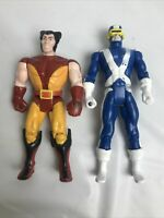 Vintage 1991 lot Toy Biz Marvel X-men Wolverine & Cyclops Action Figures