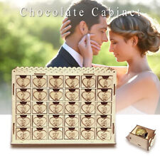 Chocolate Cabinet Stand Drawer Countdown Calendar Wedding Party Display Decor