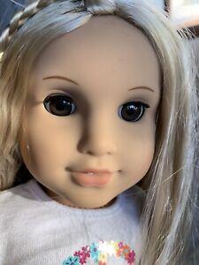 "American Girl Doll Julie Albright 18"" Blonde Hair Brown Eyes 2014 Tag Hippie 70s"