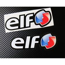 ELF Huile autocollants pour Moto personnalisé graphiques x 2 pièces Petit