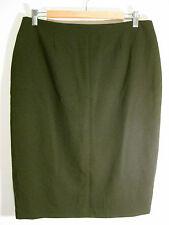 Great Sz 12 Howard Showers Black Pencil Skirt Designer