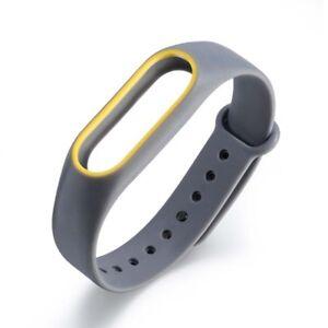 2 Colors Silicon Wrist Strap WristBand Bracelet Replacement For Xiaomi MI Band 2
