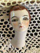 Porcelain Pincushion Half doll Head Unique & RARE Germany