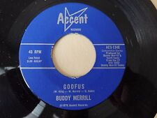 Buddy Merrill Goofus / Music Accent 13460 NM Dj comment card