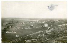 RPPC - Crookston Nebraska, Overview of the Small Town - 1913