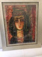Beautiful Armenian Painting of Traditional Woman from Yerevan, Armenia