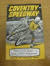 24/05/1969 SPEEDWAY programma: a Coventry, World Championship (risultati annotato, F