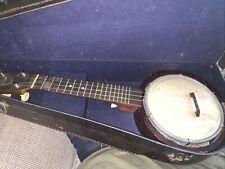 More details for antique keech banjolele banjo + case 1920s restoration project  display