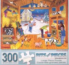 Sandy Rusinko 300 Pc Bits and Pieces Jigsaw Puzzle Winter Feeding