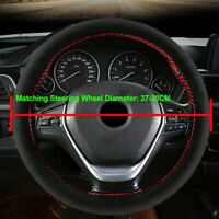 Suede Car Steering Wheel Cover For 37-38 CM Steering-wheel DIY Hand Sewing Soft