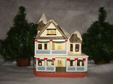 Christmas Around The World 2 Story Porch House 1988 Hard Plastic/Rubber Lighted