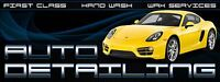 "Auto Detailing Banner 24""x64"" Free Shipping & Customization, Ready to Hang!"