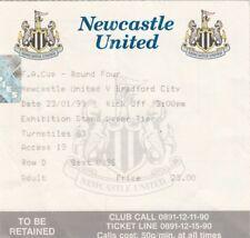 Ticket - Newcastle United v Bradford City 23.01.99 FA Cup