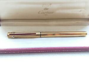 Must de cartier trinity Gold plated and red enamel stilografica