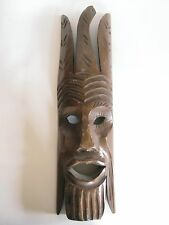 Ältere Holzmaske aus Afrika Troppenholz hand-geschnitzt 49 cm hoch