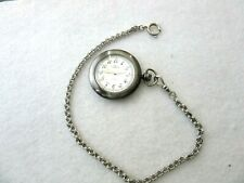 Currently Running Quartz Pocket Watch Modern Pocket Watch Chain &