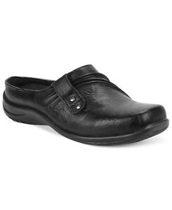 Easy Street Women's Holly Black Comfort Mules Clogs Slip On Flats Shoes SIZE 9M