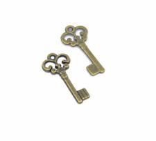 Wholesale 20pcs Tibet silver Key bracelet Charm Pendant beads Jewelry Making NEW