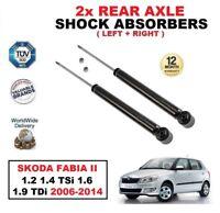 2x REAR SHOCK ABSORBERS for SKODA FABIA Mk II 1.2 1.4 TSi 1.6 1.9 TDi 2006-2014