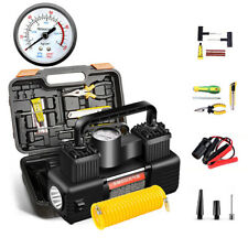 12V Tire Inflator Electric Air Compressors Pump for Motorcycle Bike Car 100PSI