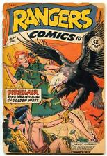 Rangers Comics #44 1948- Firehair- Tigerman- reading copy