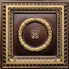Diy D210 Antique Brass Pvc Faux Tin (Drop-In) Ceiling Tiles 24 x 24 Sale Sale !