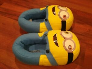Despicable Me 2 Minion Toddler Boys Girls Slipper Kids Indoor Shoes Size M 2/3