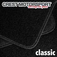 VAUXHALL VIVARO 2001 on (1-Piece Front) CLASSIC Tailored Black Car Floor Mats