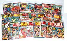 Kull the Conqueror #1-6,8-18,20,21,22,24,27 w #14 Signed w/COA Jim Starlin 1970s