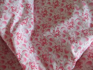 Duvet Cover Duvetcover Vintagefabric Germanlinen Red Pink Floral Patte Bedding