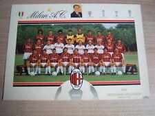 FOTO/CARTOLINA=MILAN ROSA AL COMPLETO STAGIONE 1991/92=CM 24X17