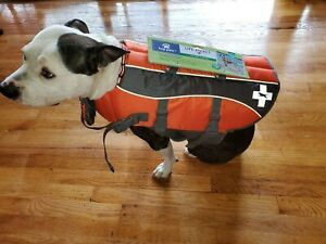 NWT TOP PAW ORANGE GRAY LIFE JACKET RECUE HANDLE SAFTY 1ST XL,L, MED, SM, XS