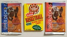 Upper Deck & Fleer Basketball Lot of 3 (Three) New Unopened Sealed Packs
